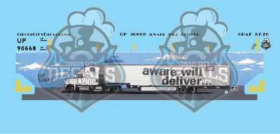 UP Union Pacific 90668 Walthers NSC 5150 Covered Hopper Graffiti HO Scale Decal Set