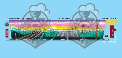 CN Canadian National 59' Cylindrical Hopper Graffiti Walthers HO Scale Decal Set