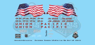 Union Pacific 4014 Cab Lettering &