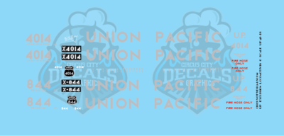 Union Pacific 4014 844 Steam S Scale Decals
