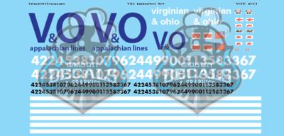 Virginian and Ohio Railroad Modern Locomotive Set O scale
