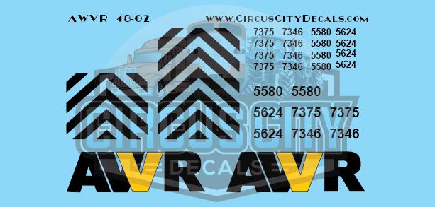 AWVR Unstoppable Movie 7346 7375 SD40-2 O Scale