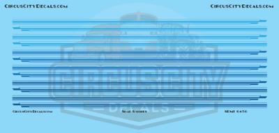 Semi Stripes Style 1 Blue DCP 1:64 Scale