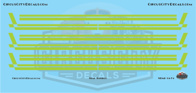 Semi Stripes Style 3 Lime Green DCP 1:64 Scale