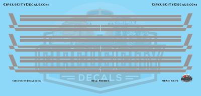 Semi Stripes Style 3 Gray with Orange Pinstripe DCP 1:64 Scale