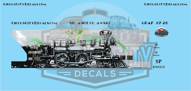 SP Southern Pacific 2 Bay Hopper Aware Graffiti HO Scale Decal Set