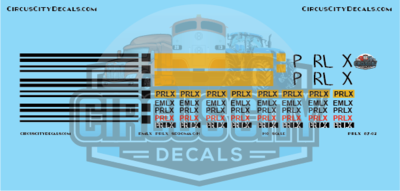 PRLX EMLX SD90MAC-H Patch HO scale Decal Set