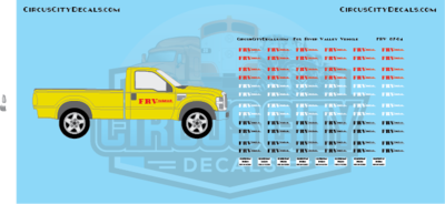 ​Fox River Valley Truck Vehicle HO Scale Decal Set​