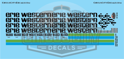 Erie Western RS3 N scale Decal Set