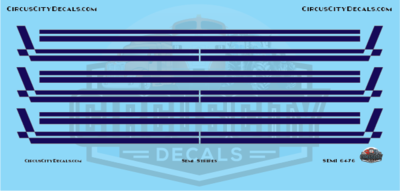 Semi Stripes Style 3 Blue with Gold Pinstripe DCP 1:64 Scale