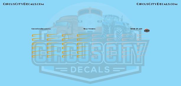 Gold & Silver Semi Stripe Graphic 1:87 Scale