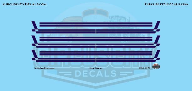 Semi Stripes Style 3 Navy with Orange Pinstripe 1:87 Scale