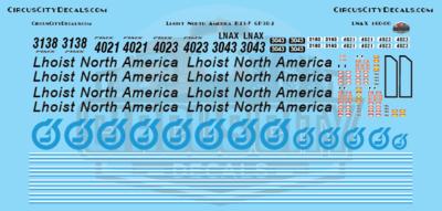 Lhoist North America GP38-2 B23-7 N Scale Decal Set