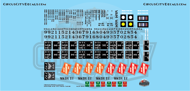 Milwaukee Road 70's Thrall Caboose G Scale Decal Set
