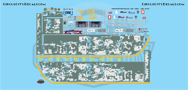 CSX ES44AH Honoring Our Veterans HO Scale Decal Set Walthers Intermountain ES44
