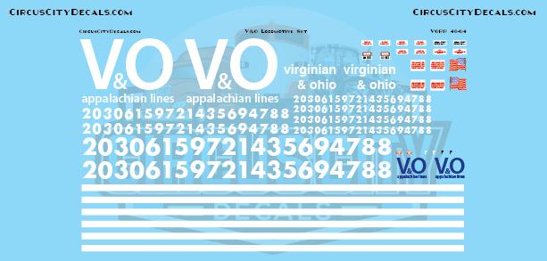 Virginian and Ohio Railroad Locomotive Set O scale