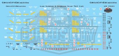 Lake Superior & Ishpeming Railroad LS&I Scale Test Ore Cars N Scale Decal Set