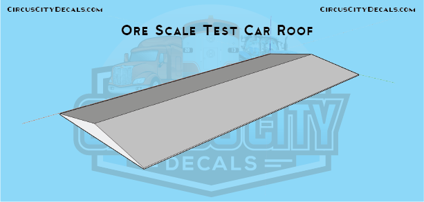 Scale Test Ore Cars Roof Sections 3d Printed HO Scale