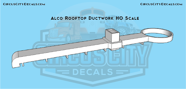 Alco Rooftop Ductwork HO Scale
