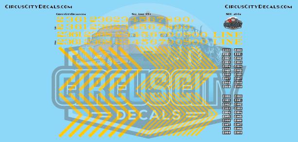 Soo Line RS1 O Scale Decal Set