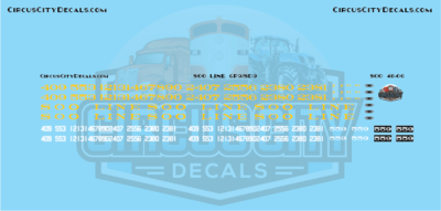 Soo Line GP9/SD9 O Scale Decal Set