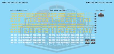 Soo Line GP9/SD9 HO Scale Decal Set