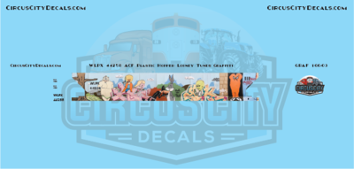WLPX 44258 Looney Tunes Graffiti Atlas ACF 5800 Plastics Hopper N Scale