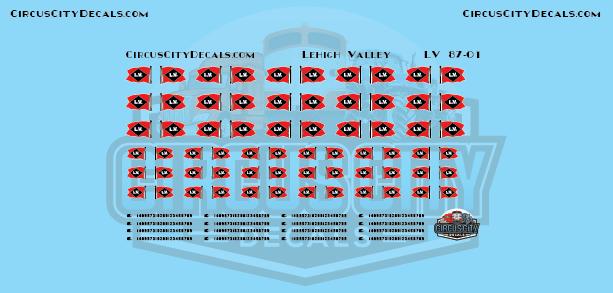 Lehigh Valley Railroad Vehicle Logos HO Scale