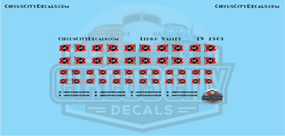 Lehigh Valley Railroad Vehicle Logos G Scale