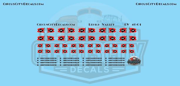 Lehigh Valley Railroad Vehicle Logos O Scale