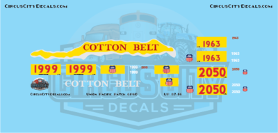 UP Union Pacific SP Cotton Belt GP60 1999 Patch Set HO Scale