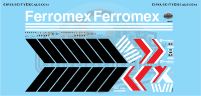 Ferromex ES44 4660 HO Scale Decal Set