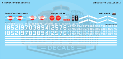 Missouri Pacific  MOPAC GP18 S Scale Decal Set