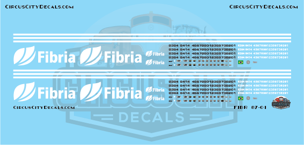 Fibria AC44i HO Scale Decal Set