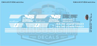 Norfolk Southern SD70ACC N Scale Decal Set