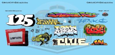 Railroad Graffiti N Scale Decal Set
