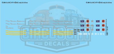 The Texas Special MKT KATY Frisco E7 2000 101 101A S Scale Decal Set