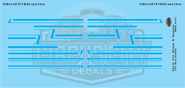 Bright Blue Semi Stripe Graphic 1:64 Scale
