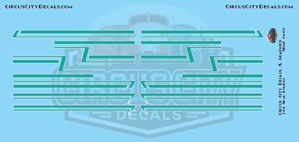 Teal Semi Stripe Graphic 1:64 Scale
