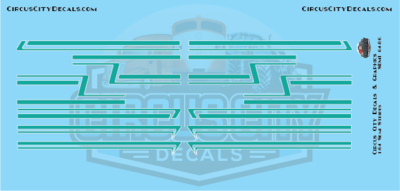 Teal Semi Stripe Graphic 1:64 Scale