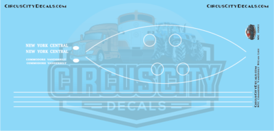 NYC Commodore Vanderbilt Steam Loco N Scale Decals