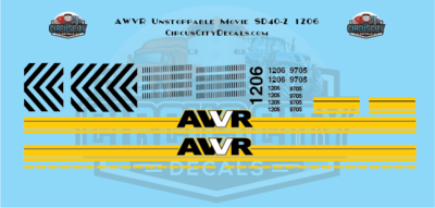 AWVR Unstoppable Movie 1206 SD40-2 HO Scale