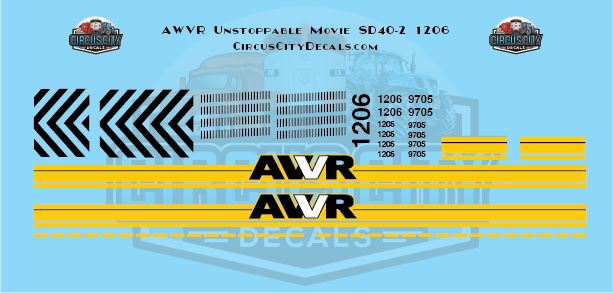 AWVR Unstoppable Movie 1206 SD40-2 N Scale