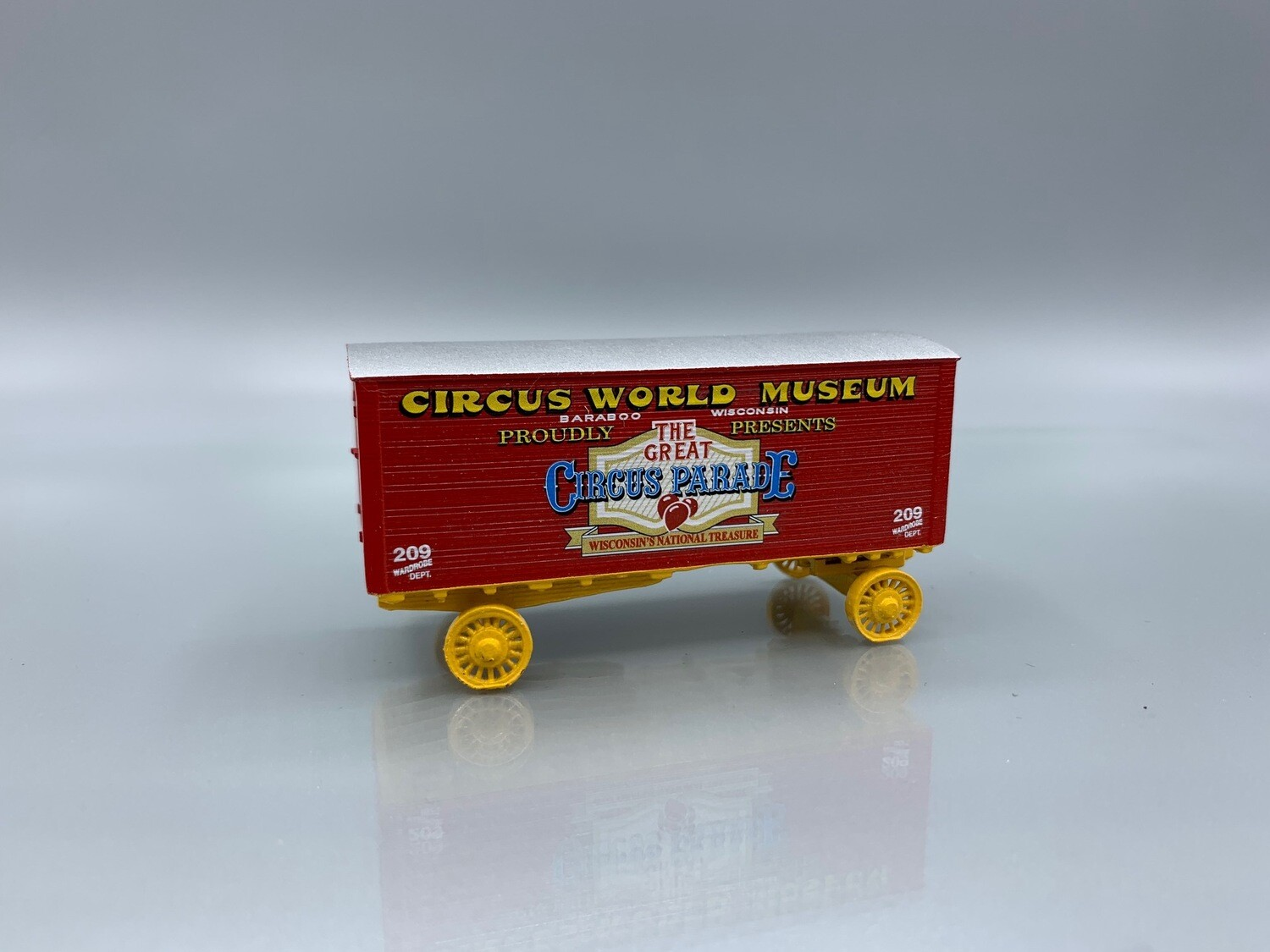Circus World Museum #209 Wardrobe Wagon Circus Wagon Kit HO Scale