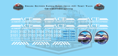 ACE Commuter Express F40PH HO Scale Decal Set