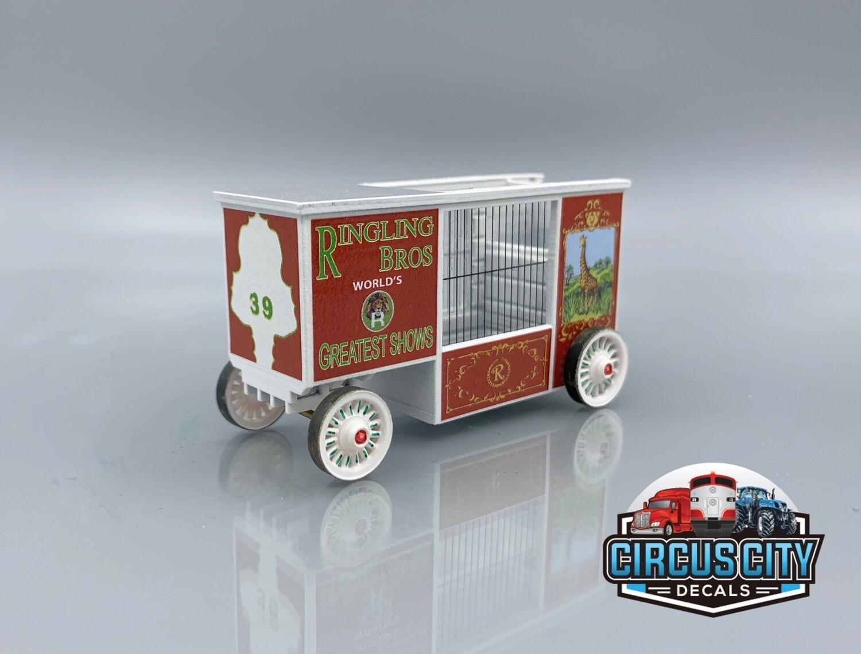 Ringling Brothers Barnum Bailey Circus #39 Giraffe Wagon Kit HO Scale