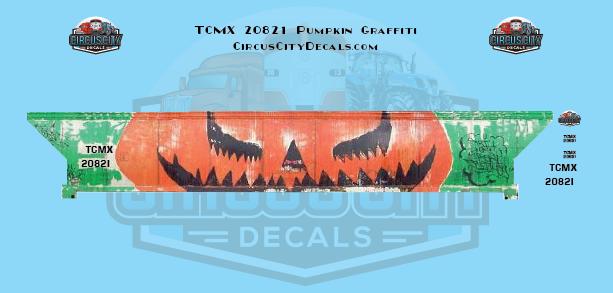 Pumpkin Graffiti TCMX 20821 HO Scale Athearn Trinity Hopper