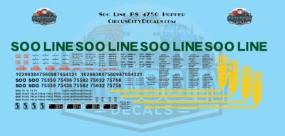 Soo Line 4750 PS Covered Hopper