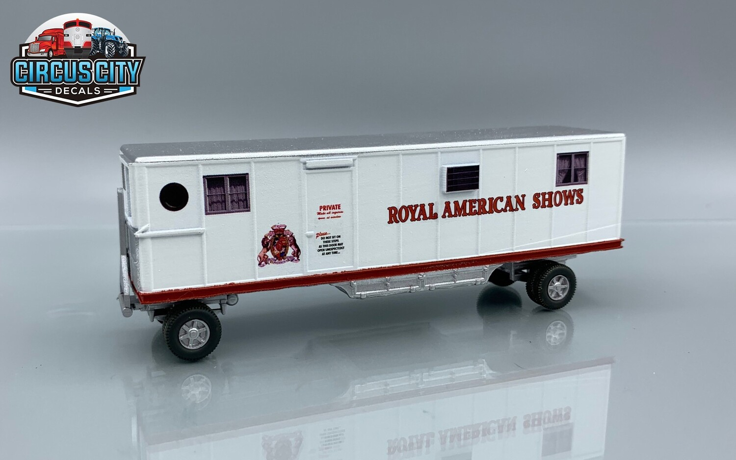 Royal American Shows Office Circus Wagon Kit HO Scale