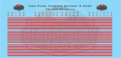 Union Pacific Heritage Fleet Car Lettering & Stripe HO Scale Decals UP UPRR